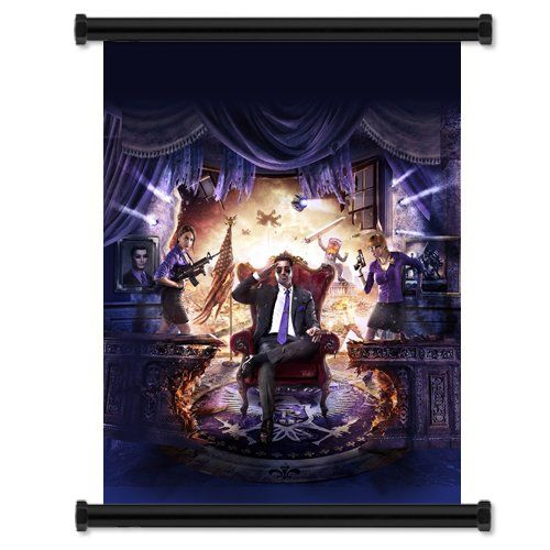 Saints Row IV 4 Game Fabric Wall Scroll Poster (16x20) Inches