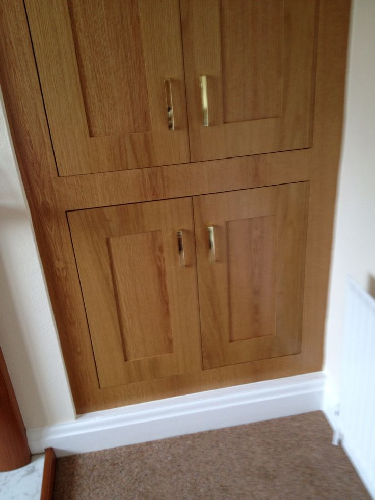 We manufactured oak shaker doors