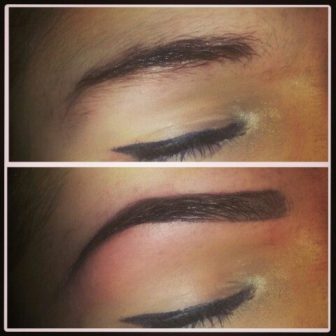 Hd brows before and after