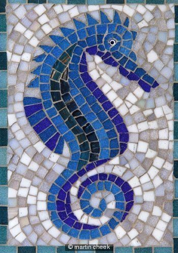 seahorse tile | mosaic tile seahorse- for a pool? | Craft