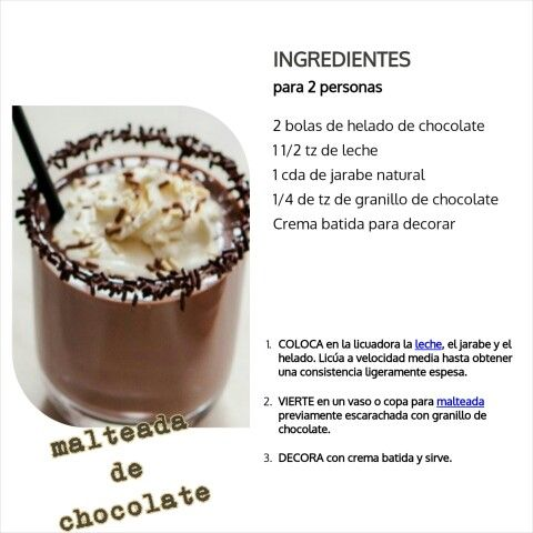 Malteada de Chocolate (2 persona)