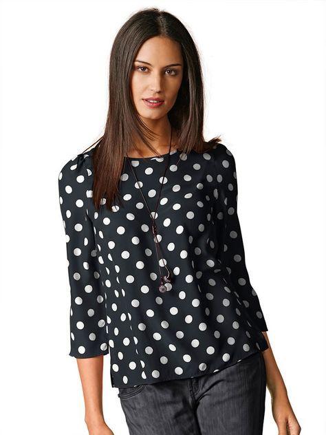 Блузка в горошек (61 фото): с чем носить, подбираем подходящий фасон, особенности дизайна блузок в горох, летние образы и луки 2016