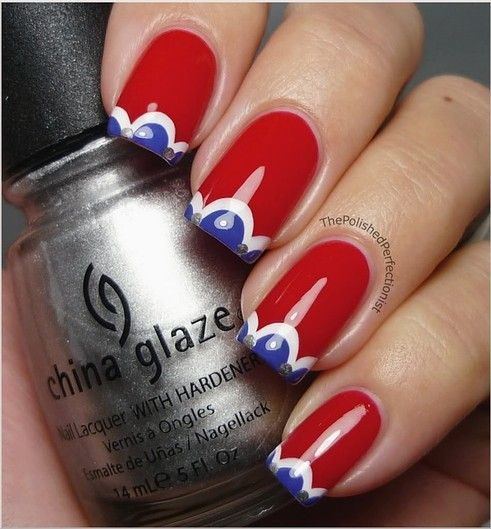 4th of july nail art pinterest