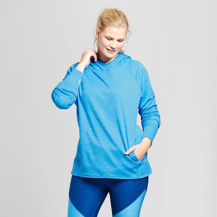 Women's Plus-Size Tech Fleece Hoodie - C9 Champion Hydro Blue 2X