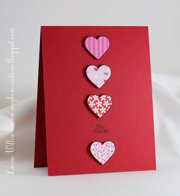 86 best images about Valentine Card Ideas – Valentine Heart Cards