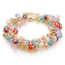 Handgemaakte Gold Crystal Armbanden Voor Vrouwen Meisjes Beste Vrienden Beroemde Merk Bedelarmband Vriendschap Sieraden 2016 Pulseras Bijoux(China (Mainland))