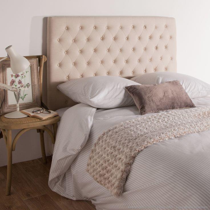 les 25 meilleures id es de la cat gorie t te de lit en tissu sur pinterest t te de lit t te. Black Bedroom Furniture Sets. Home Design Ideas