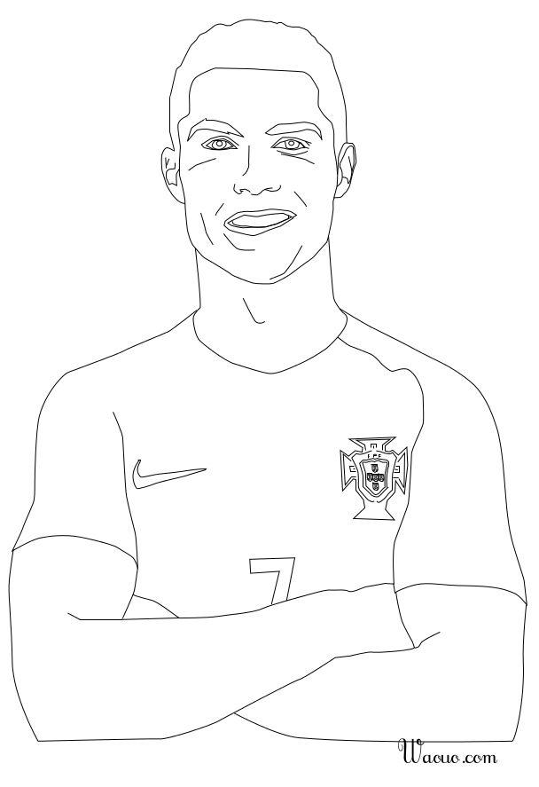 Coloriage Cristiano Ronaldo au Portugal à imprimer