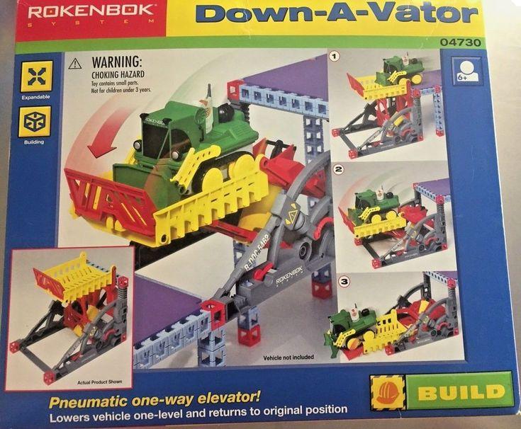 Rokenbok Systems Down A Vator 04730 Pneumatic Elevator Building Engineering Toys #Rokenbok