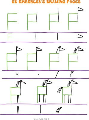 How to draw a Horse from F
