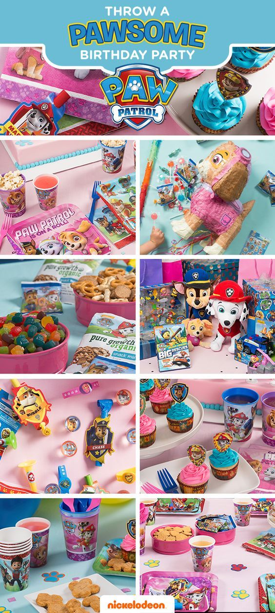 Take party guests on a great adventure with their favorite pups. PAW Patrol party décor brings their favorite Nickelodeon show to life, making this their best birthday yet. Stock up on everything you need to deck out the party at Walmart, from PAW Patrol party supplies to paper goods, to goody bags, to gummie snacks, to Skye pinatas, and more!