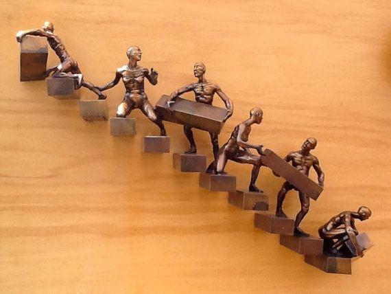 Progression bronze sculpture edition 50 door johnstonsculpture