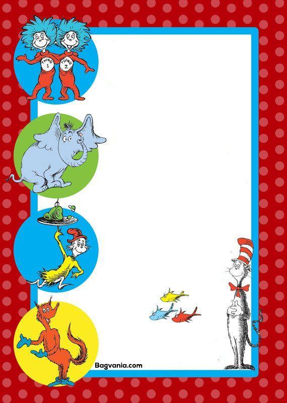 Awesome Free Printable Dr Seuss Birthday Invitations