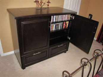 This Custom TV Lift Cabinet arrived in it's happy home Contact us to get a piece like this http://morphbotics.com/contact.html  #tvlift #tvcabinet #interiordesign