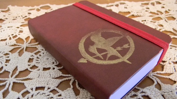 Mockingjay The Hunger Games Pocket Journal Sketch by CrimsonHollow, $8.00