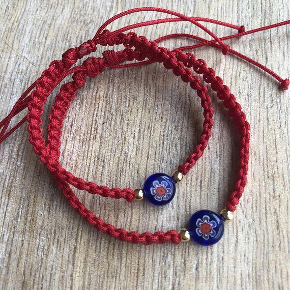 Heart Handmade Bracelet Nylon Cord  Bracelet with Charm Beautiful Gift Lucky