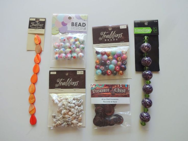 Lot Of NEW Mixed Assorted Beads Jewelry Craft Making Supplies 6 Packs