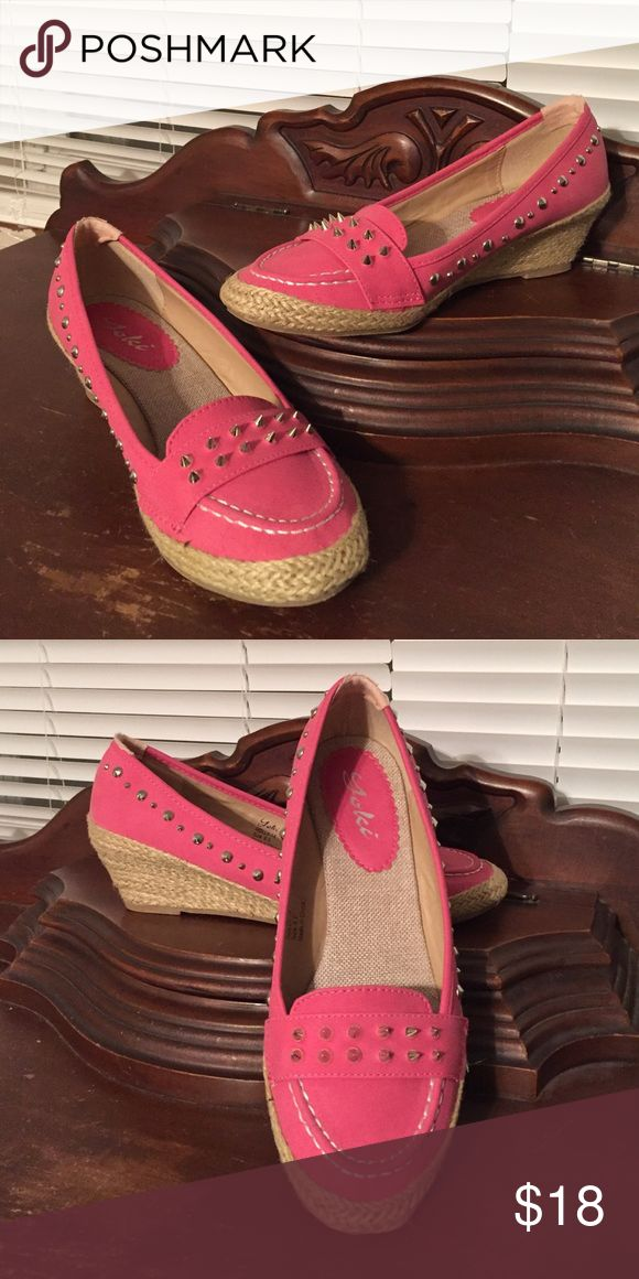 Women's Espadrilles 8.5 Hot pink Espadrilles with silver studs. 8.5. Yoki Shoes Espadrilles