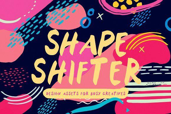SHAPE SHIFTER   Abstract Elements by Jenna Maxfield on @creativemarket