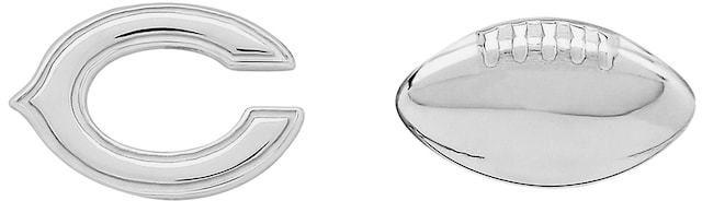 NFL Chicago Bears Team Logo & Football Mismatch Stud Earrings