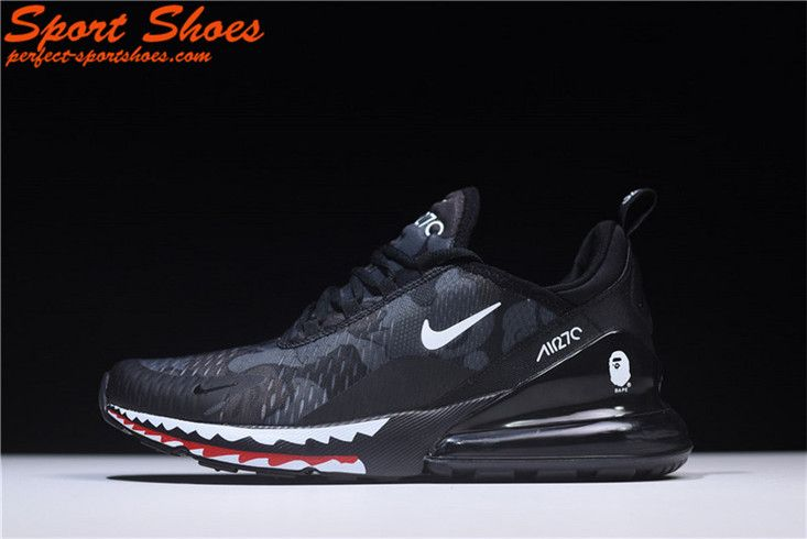 the best attitude 0df9a dbf6d 2018 Latest Nike Air Max 270 Black Shark Camo AH6799-012 Mens Shoe