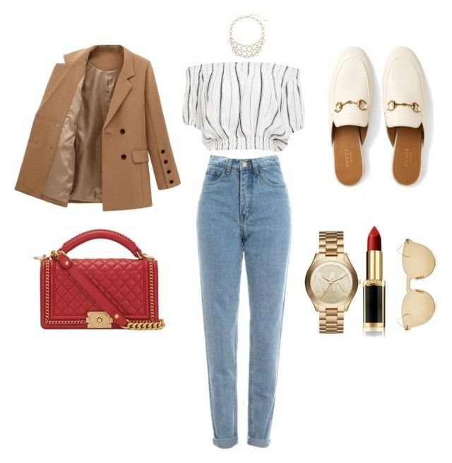 """On the streets of Milan"" by csmarcsi on Polyvore featuring WALL, Faithfull, L'Oréal Paris, Michael Kors, Gucci, Illesteva and Chanel"
