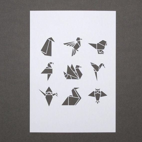 Blanc origami oiseau A4 papercut par sarahlouisematthews sur Etsy