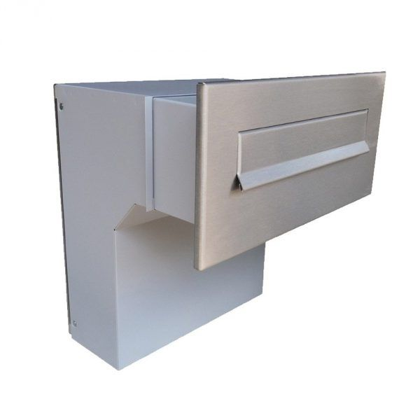 F 04 Letterbox Large Through The Wall Stainless Steel Letterbox4you In 2020 Letter Box Drop Box Ideas Home Mailboxes