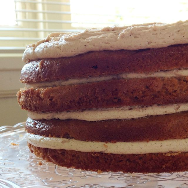 Gingerbread Cake with Cinnamon Buttercream