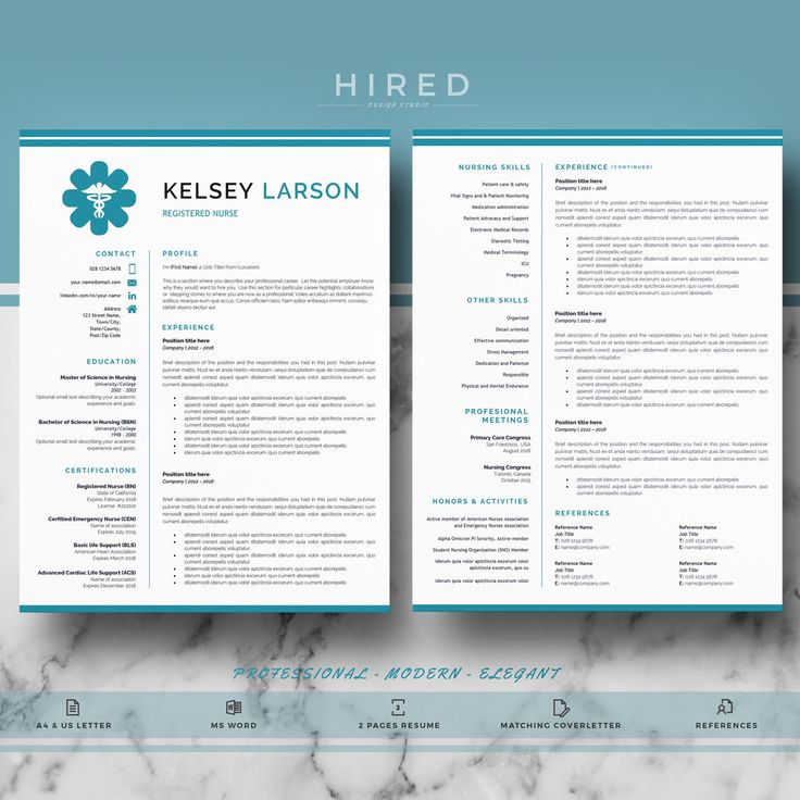 Nurse Resume Template Doctor Resume Template for MS Word RN - medical professional resume