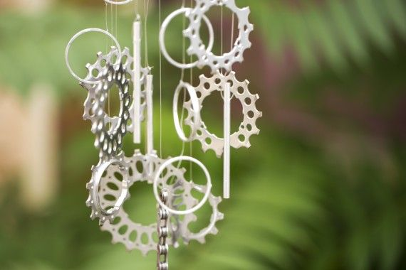 Make Your Own Wind Chimes! • Creative & Cool DIY Wind Chime Ideas & Tutorials! • This one - Bike gears!