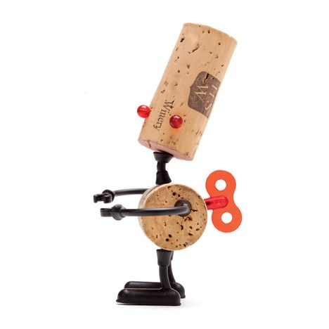 Reddish Studio have designed a new series of Corkers, originally sets of plastic pins to transform wine corks into little animal characters, this time to make robot characters.