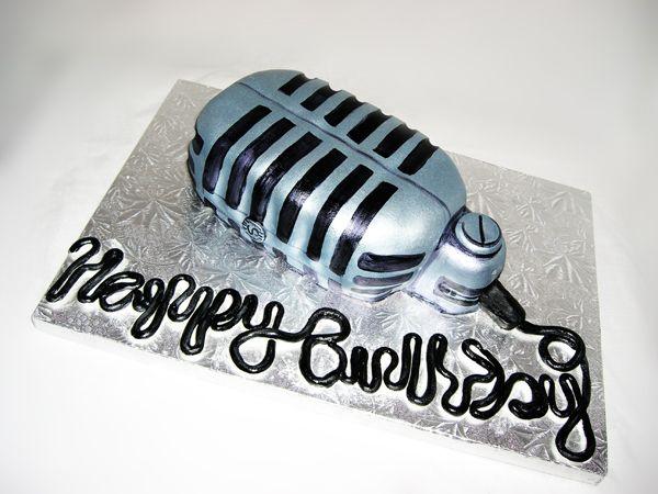 С днем рождения мужчине микрофон открытки