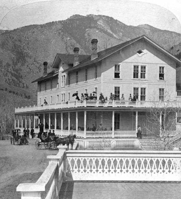 Manitou House ~ Looking N.W. Manitou Springs Colorado ~ 1872