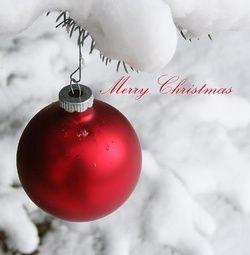 Kerstkaart klassiek: Moderne kerstkaart met rode kerstbal. Klassieke kerstkaarten online maken en versturen. Kies een mooie klassieke kerstkaart, schrijf de tekst, en met een druk op de knop, worden alle kerstkaarten voor u gedrukt en via PostNL verstuurd! http://www.kerstkaartensturen.nl/kerstkaarten/kerst-klassiek/