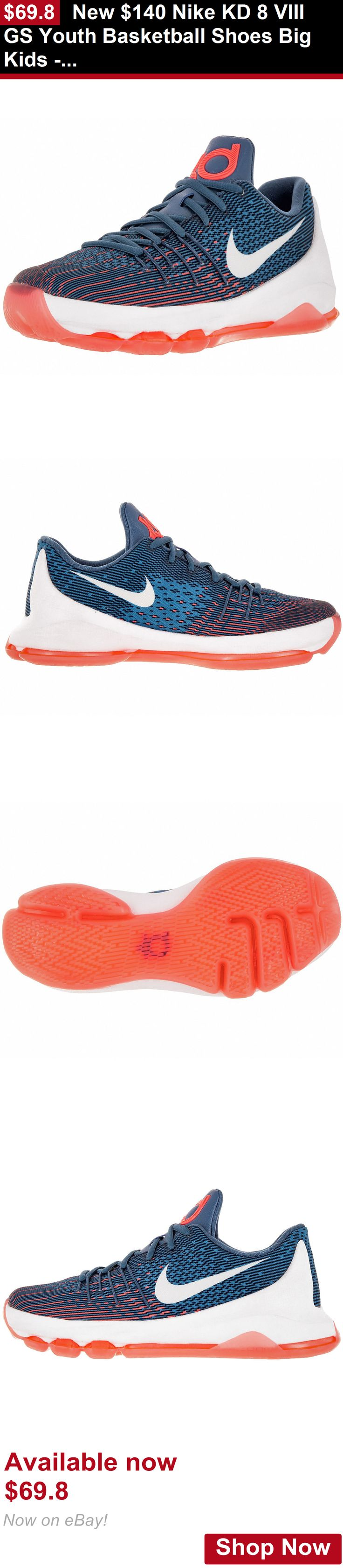 Children boys clothing shoes and accessories: New $140 Nike Kd 8 Viii Gs Youth Basketball Shoes Big Kids - Ocean Fog Blue BUY IT NOW ONLY: $69.8