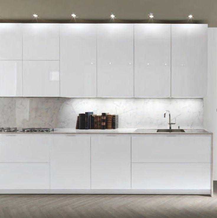 Modern Kitchen Cabinet Doors: Frameless White High Gloss Doors For A Sleek Modern Look