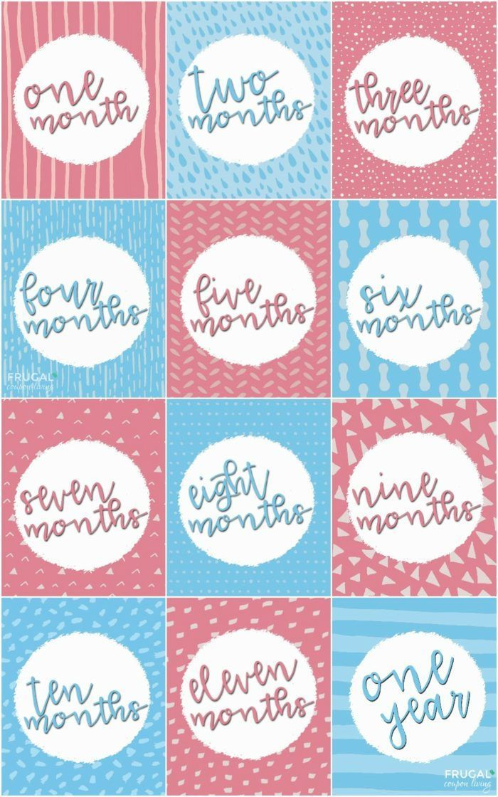 Baby Milestone Monthly Printables Baby Month Stickers Baby Milestones Free Baby Stuff