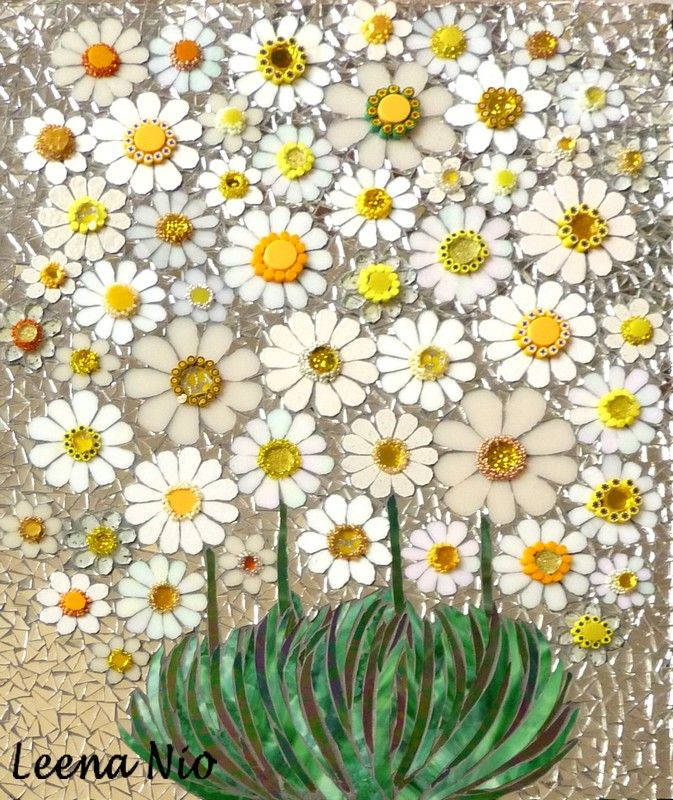 Daisies by Leena Nio The first version of this mosaic picture of mine has been on Pinterest many times…without my name