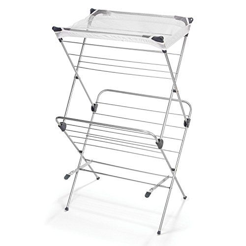 Polder Two-Tier Free Standing Clothes Drying Rack with Mesh Garment Dryer #Polder #Tier #Free #Standing #Clothes #Drying #Rack #with #Mesh #Garment #Dryer