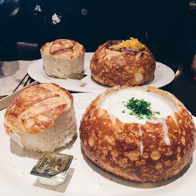 Sourdough Soup Bowls at Boudin Bakery and Cafe in San Francisco