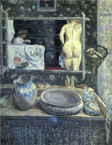 Пьер Боннар. «Зеркало над умывальником». 1908 г.