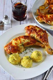 Hozzávalók 2-4 személyre:    4 csirkecomb  só, frissen őrölt bors, őrölt szerecsendió  30 dkg Mizo laktózmentes trappista sajt  5 dkg Miz...