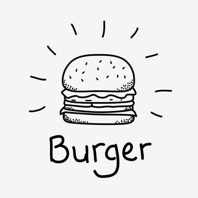 Ilustracion De Vector De Hamburguesa Con Doodle De Hamburguesa De Estilo Dibujado A Mano Clipart De Alimentos Hamburguesa Hamburguesa Png Y Vector Para Desca Burger Vector Burger Drawing How To Draw