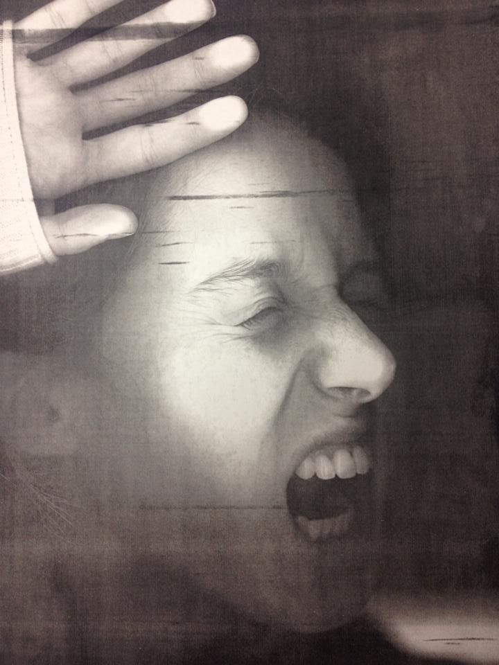 Charcoal Distorted Self Portrait having students use the photocopier in order to create a unique portrait.
