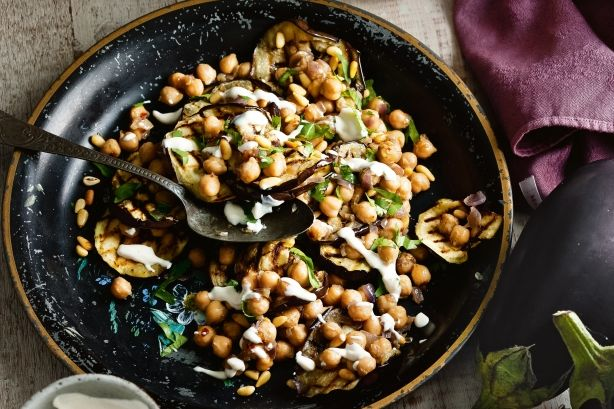 Middle Eastern flavours and ingredients make this the perfect warm salad for cold days.