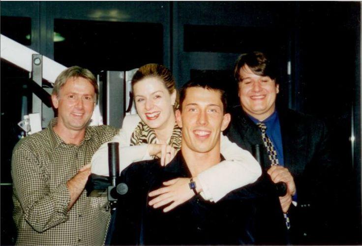 Marion Borgs gemeinsam mit Roland Matthes, Stev Theloke und Gerd Baumann (†)