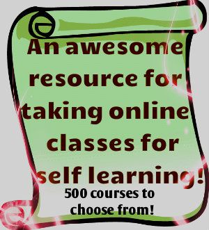 This site is a hidden jewel offering 500 online classes in a variety of subject areas! The wide spectrum of courses ranges from education related courses to bird watching! These non-degree online courses are great for self learning or to just brush up on a course! Check it out!