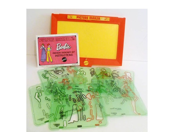 Vintage Barbie Picture Maker Toy by ClearlyRustic on Etsy, $27.00