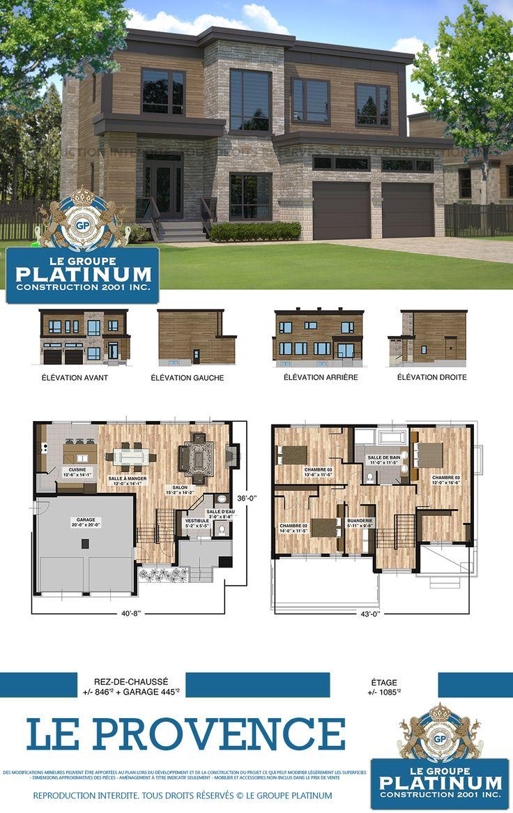 Modèle de maison neuve le provence le groupe platinum construction de maisons et